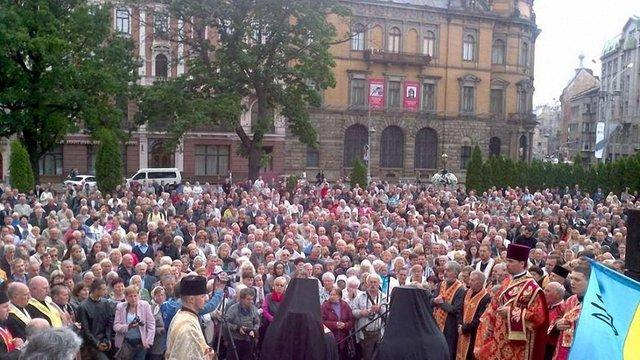 Львів'яни вшанували пам'ять і помолилися про загиблих військових
