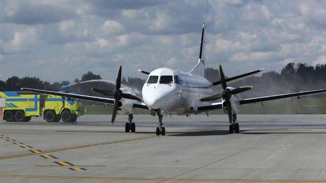 Львів зустрів перший рейс авіакомпанії «Урга» з Києва