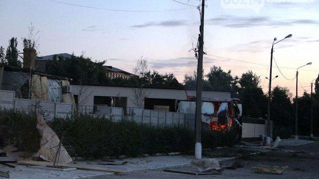 В Артемівську терористи атакували танкову базу