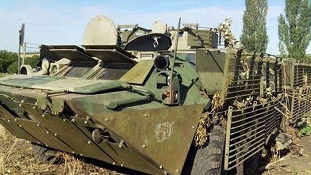 Вояки Нацгвардії захопили російський БТР при спробі прориву на територію України