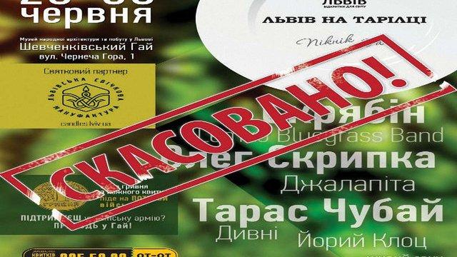 Гастрономічний фестиваль «Львів на тарілці» скасували