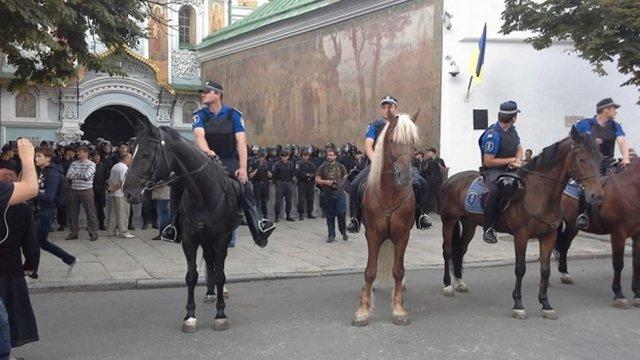 У Лаврі близько 250 сепаратистів хочуть заявити про створення «Київської народної республіки»