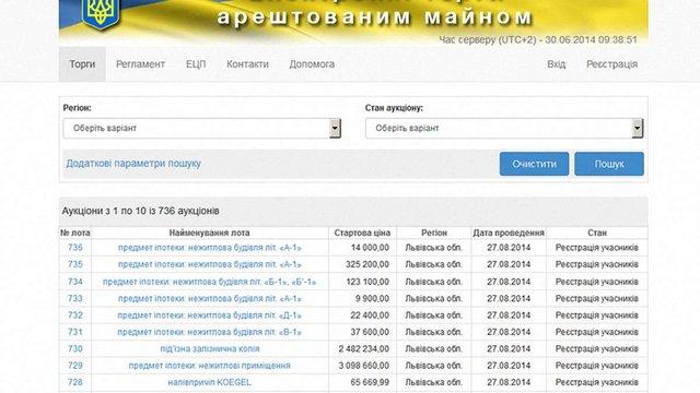 1 липня стартують перші електронні торги арештованим майном