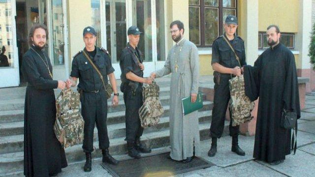 Львівська єпархія УПЦ передала бронежилети місцевим нацгвардійцям