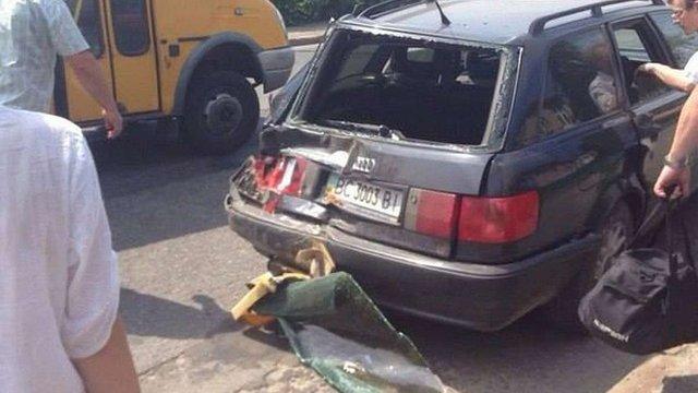 На вулиці Шевченка у Львові маршрутка зіткнулася з Audi