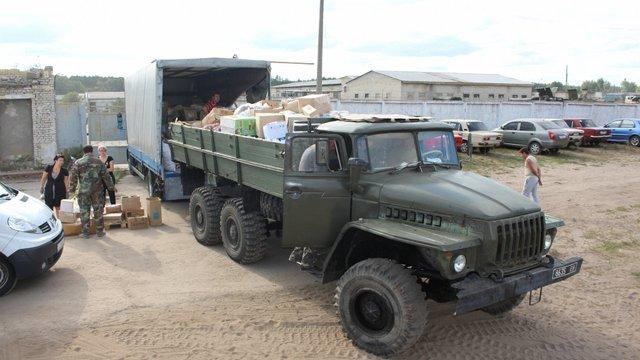 Військовим із Львівщини в зоні АТО передали 60 тонн допомоги