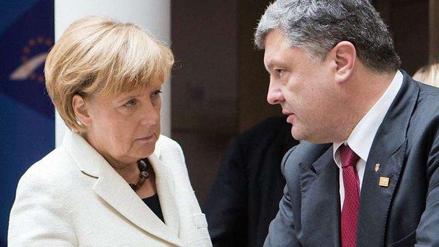 Порошенко і Меркель обговорили виділення третьої хвилі макроекономічної допомоги ЄС для України