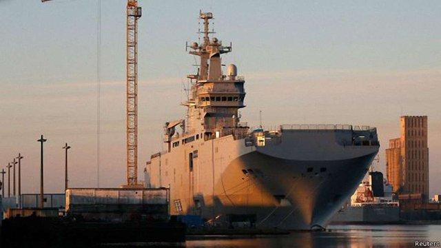 Французький уряд не підтвердив заяву Рогозіна про передачу Росії першого «Містралю»