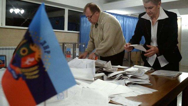 """На """"виборах"""" в ЛНР лідирує партія чинного """"прем'єр-міністра"""""""