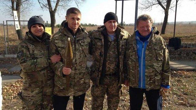 Гравці «Дніпра» на чолі з Маркевичем відвідали українських десантників