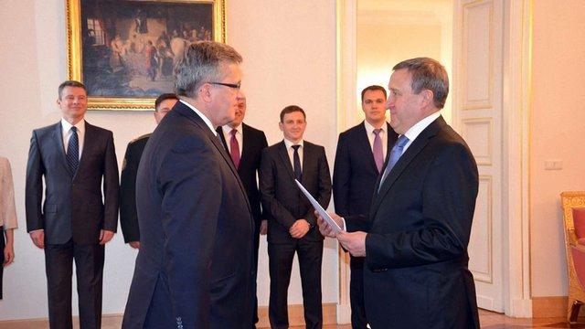 Андрій Дещиця офіційно приступив до виконання обов'язків посла України в Польщі