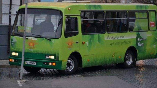 У Луцьку презентували електробус, сконструйований на базі автобуса «Богдан»