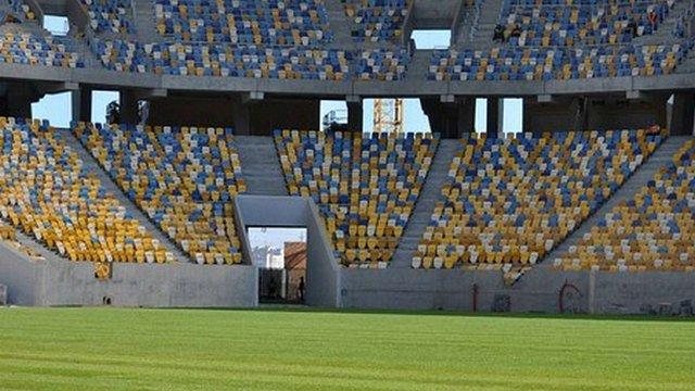 УЄФА покарала «Арену Львів» за провокацію під час матчу Україна-Македонія