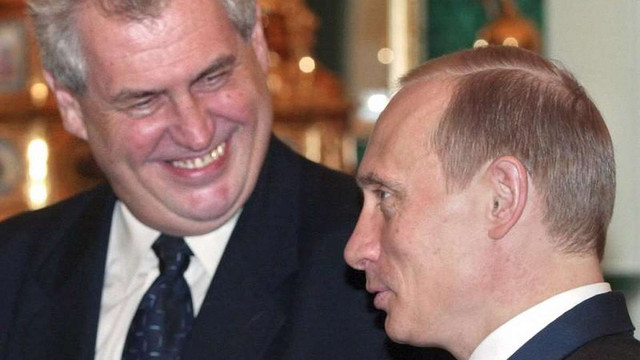 Президент Чехії запросив Володимира Путіна до Праги