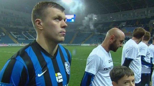 Гравець «Чорноморця» відмовився одягати футболку на підтримку української армії