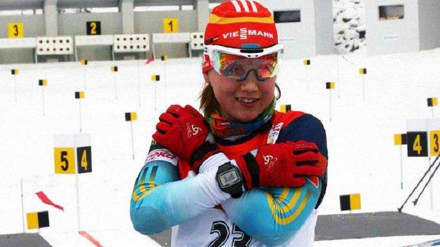 Українська біатлоністка здобула срібло у спринтерській гонці