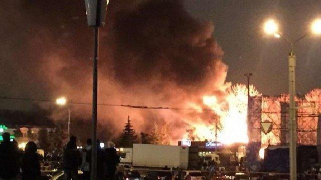 У центрі Харкова горить кафе. Є постраждалі (Доповнено)