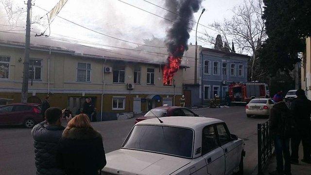 В Ялті згоріло управління міліції
