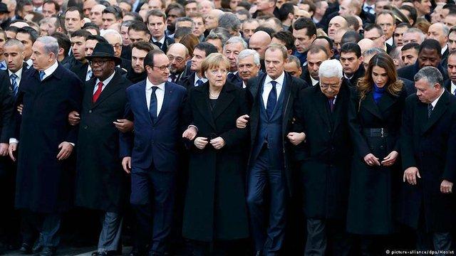 В Парижі на марш пам'яті жертв терактів прийшло півтора мільйона людей