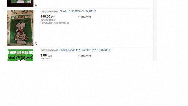 Новий номер Charlie Hebdo продають на eBay за кілька сотень євро