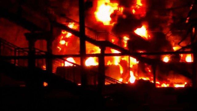 МВС вважає інцидент з пожежею цистерни на Харківщині спланованим терактом