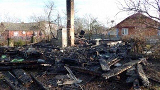 На Львівщині дотла згорів житловий будинок