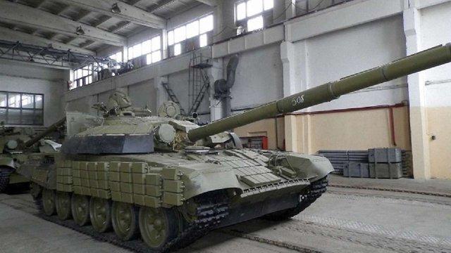 Українці захопили на Донеччині російський танк Т-72 з екіпажем