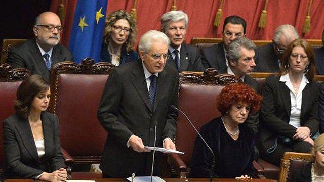 Новий президент Італії Серджо Маттарелла прийняв присягу