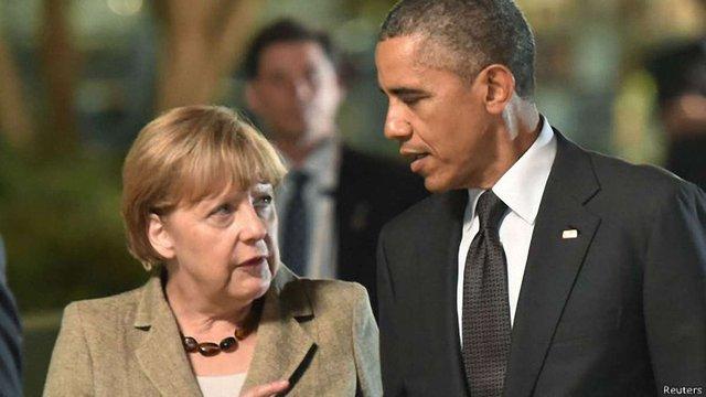 Ангела Меркель зустрілася з Бараком Обамою у Вашингтоні