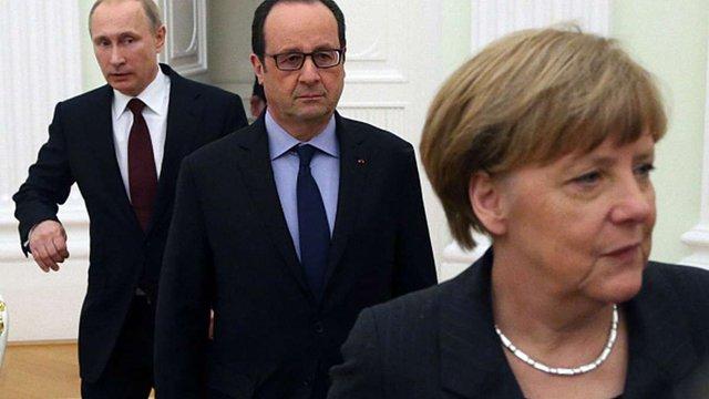Путін, Меркель і Олланд приїдуть в Мінськ на переговори
