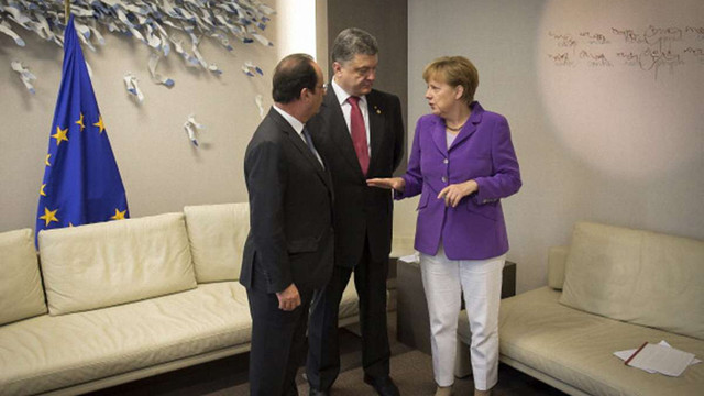 Україна і ЄС відстоюватимуть спільну позицію на переговорах в Мінську, – Порошенко