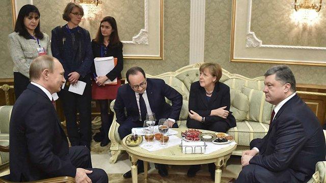 У Мінську розпочалася зустріч лідерів країн у «нормандському форматі»