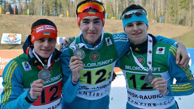 Українські юніори завоювали срібло чемпіонату світу з біатлону