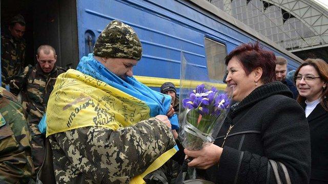 До Львова зі зони АТО повернулася ще частина прикордонників