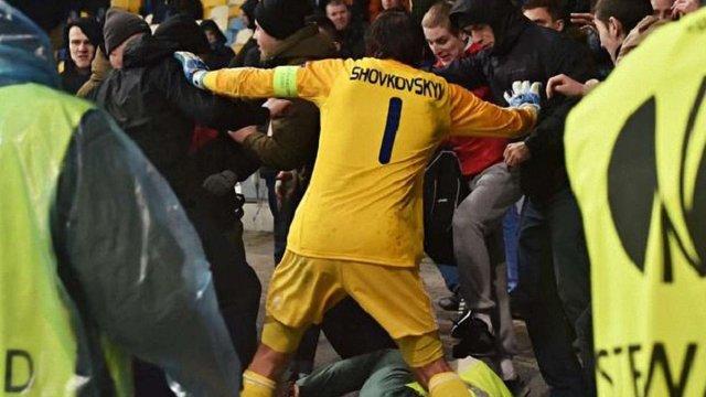 Олександр Шовковський врятував стюарда від розлючених фанатів (фото)