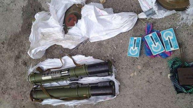 СБУ знешкодила схованку зброї терористів поблизу Артемівська