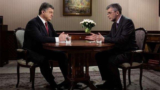Опубліковано повне відео інтерв'ю Порошенко