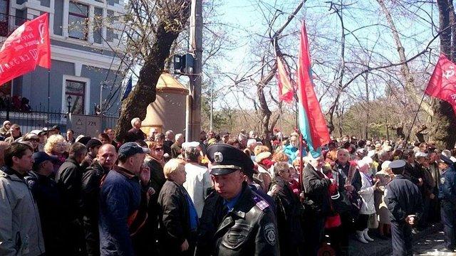 В Одесі стались сутички між «Самообороною» і людьми з комуністичними прапорами