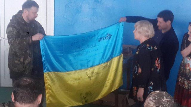 Ада Роговцева відвідала базу бійців «Правого сектора»