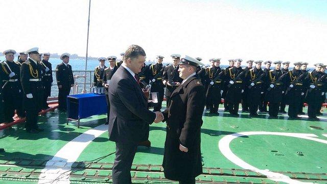 Порошенко анонсував впровадження стандартів НАТО на українському флоті