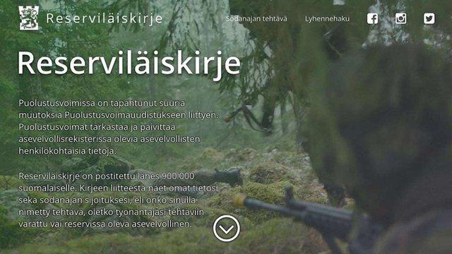 Фінські резервісти отримають пам'ятки про порядок дій на випадок війни