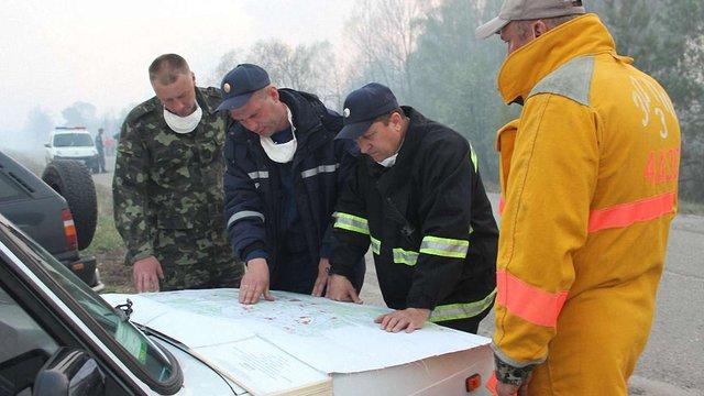 Держслужба з НС відзвітувала про поточну ситуацію з пожежею під Чорнобилем