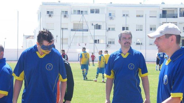 Актори театру ім. Марії Заньковецької зіграли у футбол з іспанськими українцями