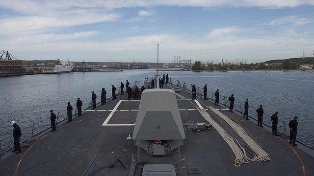 У польський порт біля кордону з Росією увійшов есмінець США