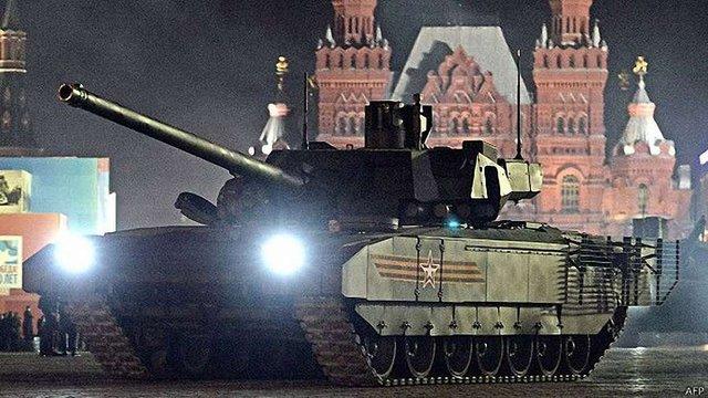 Новітній російський танк «Армата» заглох на Красній площі
