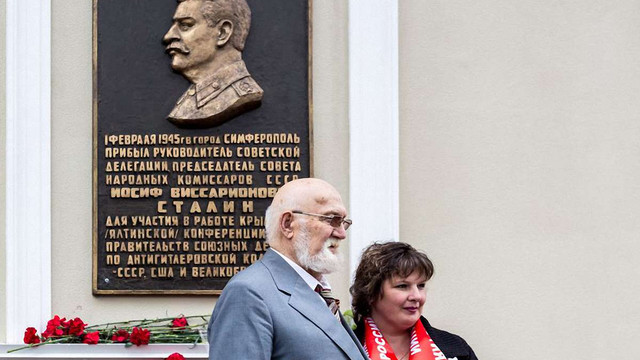 В окупованому Сімферополі встановили пам'ятну дошку Сталіну