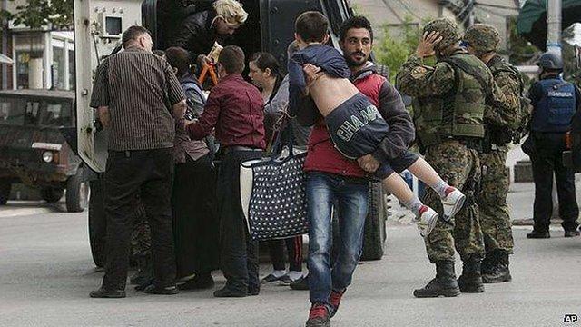 На місто в Македонії напало угруповання терористів