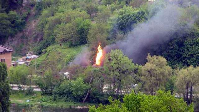 У Вінниці вибухнула заправка: полум'я сягало десяти метрів у висоту (відео)
