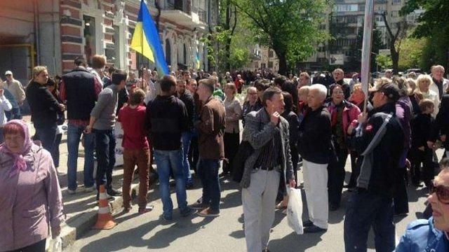 У Києві відбувся псевдо-мітинг проти підйому цін на комунальні послуги