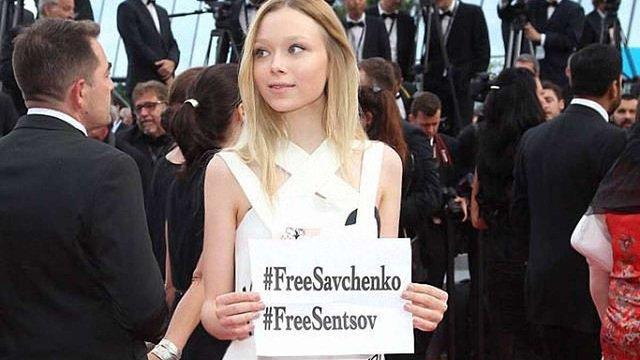 У Каннах українська акторка закликала звільнити Савченко та Сенцова